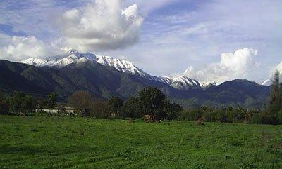 Paisaje de Olmué en Chile